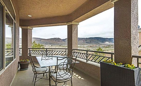 balcony view from 9900 Wilbur May Pkwy Reno, Nevada
